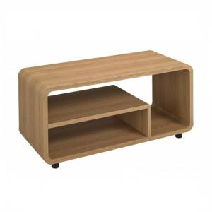 Baxton Curve LCD TV Stand In Oak