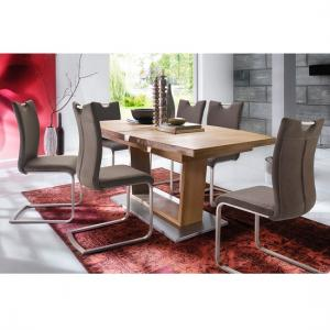 Cantania Dining Table Rectangular In Core Beech And 6 Pavo Chair
