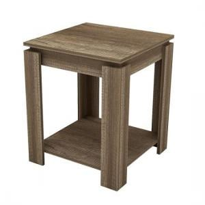 Caister Wooden Lamp Table Sqaure In Oak With Undershelf