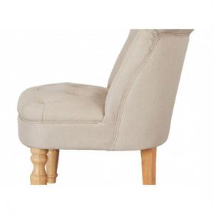 Carlos Boudoir Style Chair In Beige Fabric With Linen Effect_2