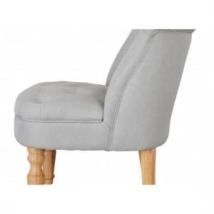 Carlos Boudoir Style Chair In Blue Fabric With Linen Effect_2