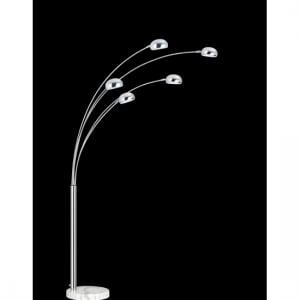 Aurora Contemporary 5 Arm Arch Floor Lamps in Chrome