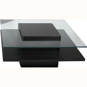 Hong Kong Black Coffee Table In Ash Wood Veneer