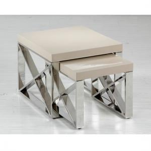 Comet Mushroom High Gloss Nest of Tables