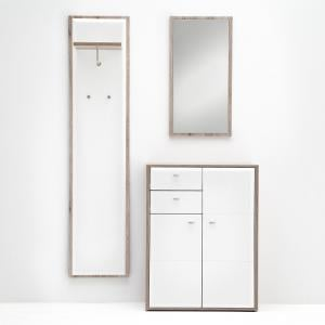Camino Hallway Furniture Set 3 In White Gloss And Sanremo Oak