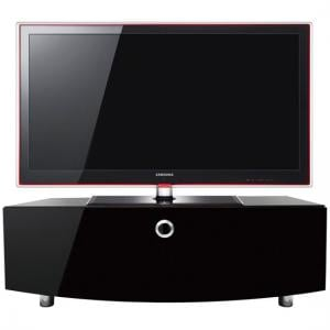 Caprico LCD TV Stand Curve In High Gloss Piano Black