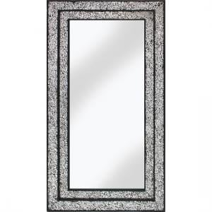 Betsy Wall Mirror Rectangular In Mosaic Black And Silver Frame