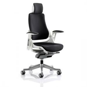 Zeta Executive Office Chair In Black Leather
