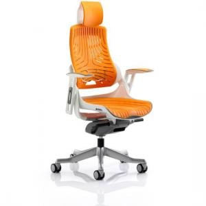 Zeta Executive Office Chair In Orange Elastomer