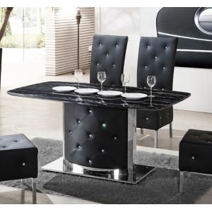 Serene Black Marble Finish Dining Table Only