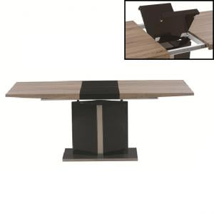 Coaster Extendable Dining Table In Walnut And Brown High Gloss