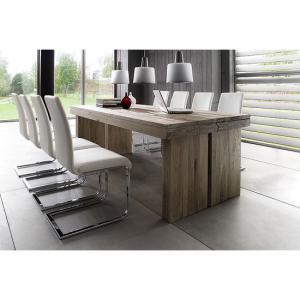 Dublin 8 Seater Dining Table In 180cm With Lotte Dining Chairs