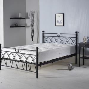 Dales Contemporary Metal Double Bed In Black