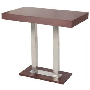 Caprice Bar Table Rectangular In Wenge And Stainless Steel