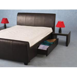 "Dresden 2 drawer 4ft 6"" Expresso Brown Double Bed"