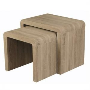 Cannock Set of 2 Nesting Tables In Havana Oak