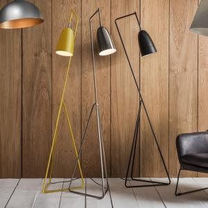 Braize Adjustable Floor Lamp In Black Finish With Metal Frame