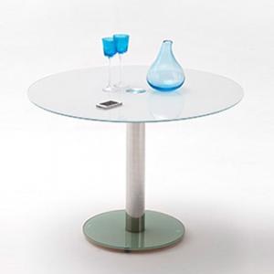 Falko Frosted Glass Top Round Dining Table Only