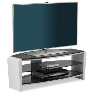 Francium Glass TV Stand In White