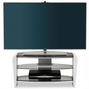 Francium White LCD TV Stand With 2 Shelves