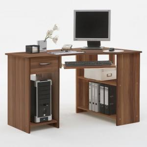 Felix Home Office Wooden Corner Computer Desk In Plumtree