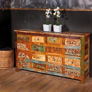 Felizes Multicoloured Wooden Sideboard With 16 Drawers