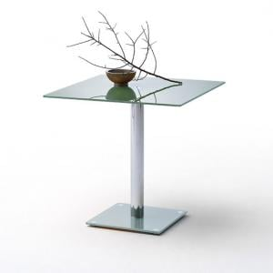 Fion Square Glass Dining Table In Petrol