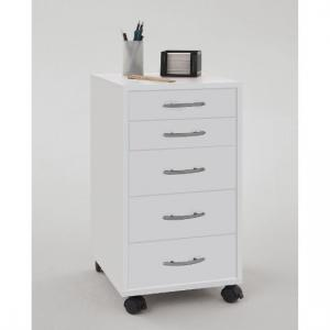 Freddy Contemporary White Office Cabinet