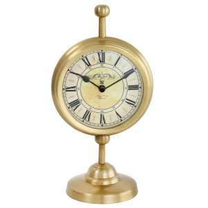Regan Vintage Clock In Yellow Gold Finish