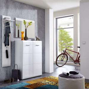 Adrian Hallway Furniture Set In White With High Gloss Fronts