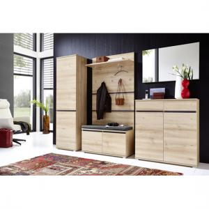 Lissabon Hallway Furniture Set In Nobel Beech