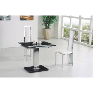 Enke Black Glass Extending Dining Table And 4 G601 Dining Chairs