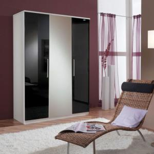 Gastineau Wardrobe In Alpine White With 3 Door And Mirror