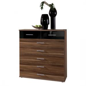 Gastineau Chest Of Drawers In Walnut Black
