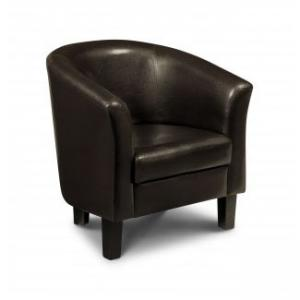 Malmo Tub Dark Brown Leather Chair