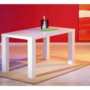 Guiseppe High Gloss Dining Room Table In White