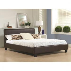 Hamburg Brown Faux Leather Double Bed
