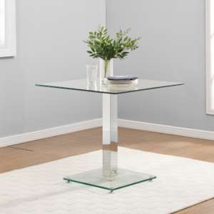 Hartley Bistro Dining Table With Clear Glass Base