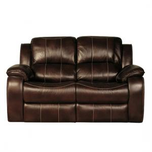 Holbrook Recliner 2 Seater Sofa In Brown Faux Leather