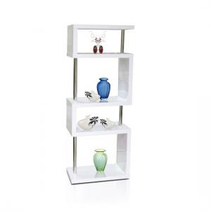 Miami Slim High Gloss Shelving Unit White