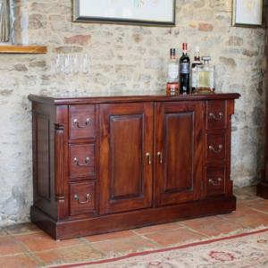 Belarus Sideboard In Mahogany With 2 Door Cupboard And 6 Drawers