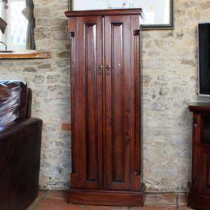 Belarus Mahogany CD And DVD Storage Cupboard With 2 Doors