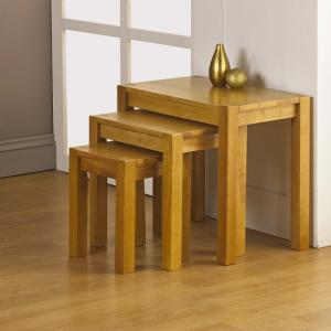 Evelyn Wooden Nest of Tables Finish In Oak
