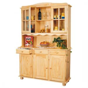 Toscana Solid Pine Display Cabinet