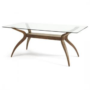 Jenson Dining Table Rectangular In Glass Top With Walnut Legs_2