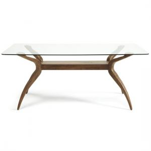 Jenson Dining Table Rectangular In Glass Top With Walnut Legs_3