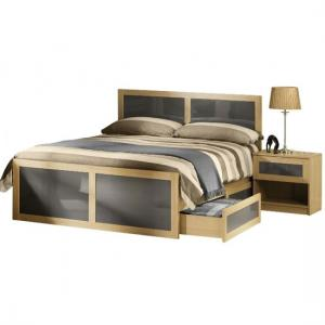 Simo Light Oak Finish Single Bed With Underbed Drawer
