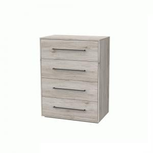 Armado Chest of Drawers In Sand Oak With 4 Drawers