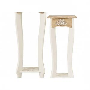 Julian Plant Stands In Cream And Distressed Wooden Effect_2