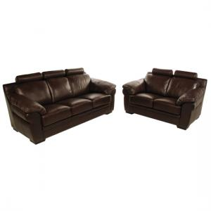 Katie 3+2 Seater Red Leather Sofa